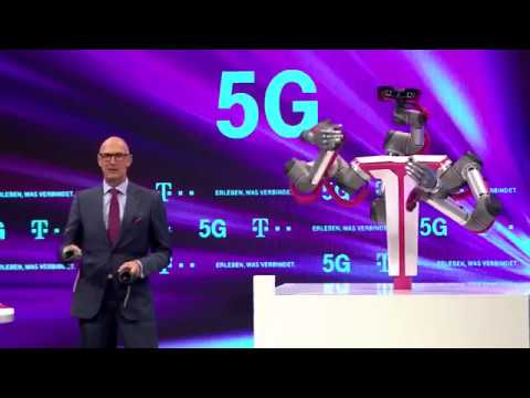 CEO Deutsche Telekom demonstrating Tactile Internet