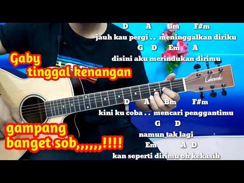 Tutorial  Kunci Gitar Gaby Tinggal Kenangan - KUNCI DAN LIRIK MUDAH