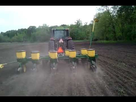 Planting Corn With A Twin Row Planter YouTube