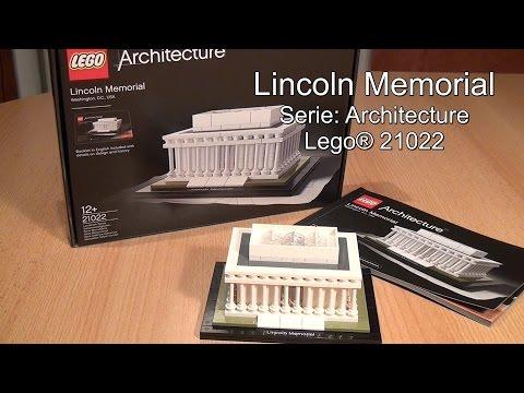 Lego Lincoln Memorial: Test+Speed Build bzw. Stopmotion (Architecture Set 21022 deutsch)