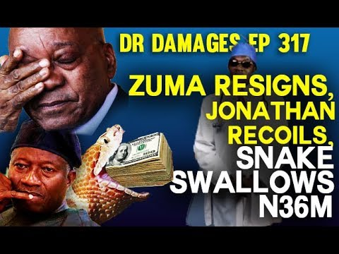 Dr. Damages Show - episode 317: Zuma Resigns, Jonathan Recoils, Snake Swallows N36m