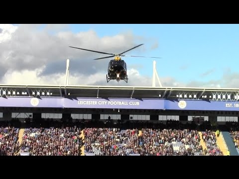 Helicopter Lands Inside King Power Stadium