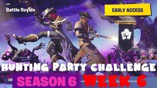 SECRET Banner Week 6 - Hunting Party Challenge Guide - Fortnite Battle Royale Season 6