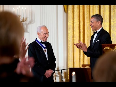 Shimon Peres - Medal of Freedom Award Acceptance