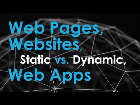 Web pages, Websites, and Web Applications