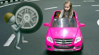 The wheels on the bus Nursery rhymes song for kids on the Indoor playground