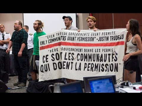 Anti-oil thugs shut down Energy East hearings in Montreal