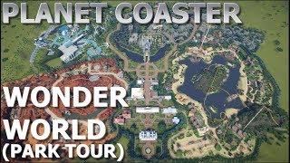 #PlanetCoaster ► Wonder World Theme Park - PARK TOUR (HD)