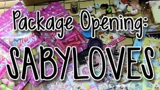 Package Opening: SabyLoves