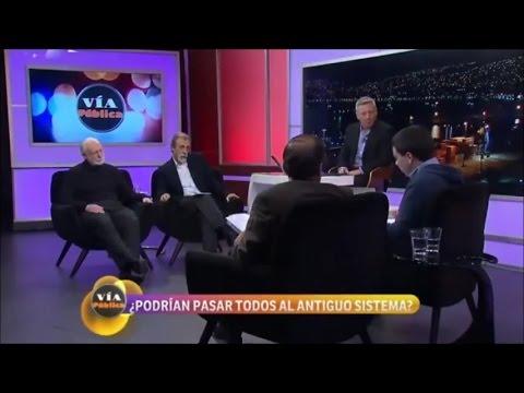 Luis Mesina y Manuel Riesco en Via Publica - No mas AFP