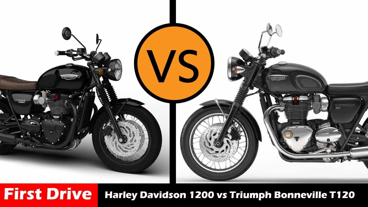 Harley Davidson Sportster 1200 Vs Triumph Bonneville T120 Compare