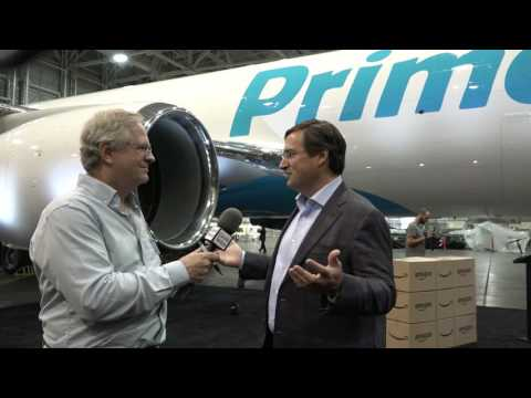 Amazon reveals Prime Air airplane freighter at Boeing Field