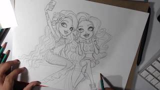 Speed Drawing of Meeshell and Lagoona Blue