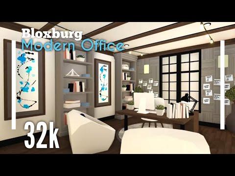Modern Home Office Concept Tutorial Bloxburg Concepts 4 Youtube