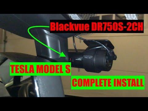 Tesla Model S | Blackvue DR750S- 2CH Dash Cam | Complete Install