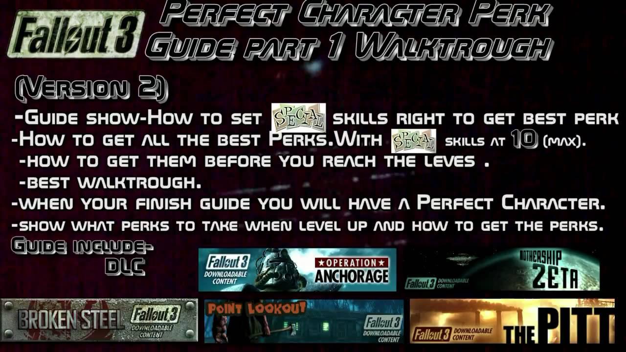 Fallout 3 Perfect Character Perk Guide part 1 Walktrough