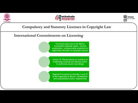 Copyright- statutory and compulsory licensing