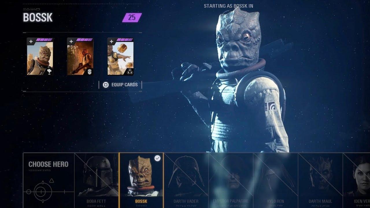 Star Wars Battlefront 2 Fully Upgraded Bossk Gameplay Heroes Vs Villains
