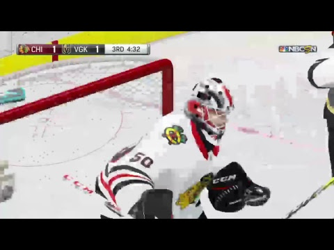 NHL 18 Chicago Blackhawks at Las Vegas Golden Knights 2017-2018