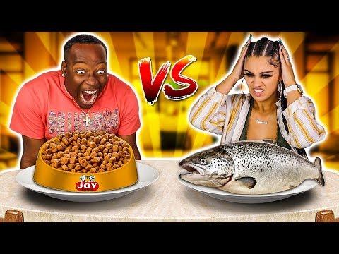 REAL FOOD VS ANIMAL FOOD CHALLENGE