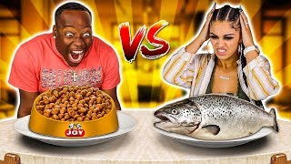 REAL FOOD VS ANIMAL FOOD CHALLENGE