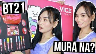 LOCAL at MURANG BT21, OKAY BA?!   BT21 Vice Cosmetics Makeup Full Review