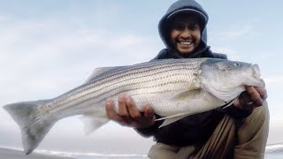 Striped Bass fishing before a rain + Live Sideshow