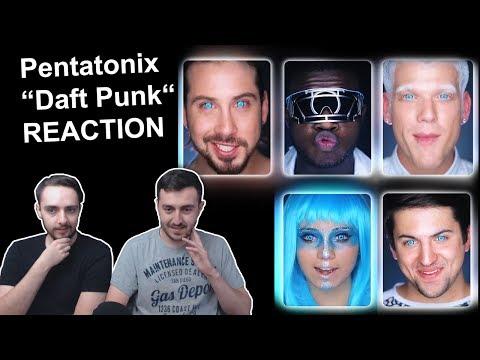 Pentatonix Daft Punk REACTION (Music Video)