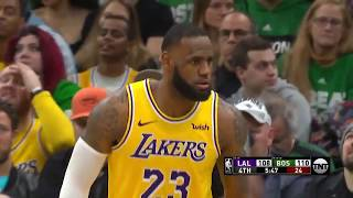 LeBron James vs Kyrie Irving BROTHERS Duel Highlights Lakers vs Celtics 2019 02 07   28 Pts for LBJ!