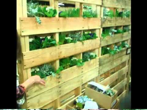 Vertical Pallet Garden Ideas
