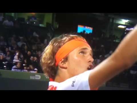 Alexander Sascha Zverev is So Mad at Miami Open