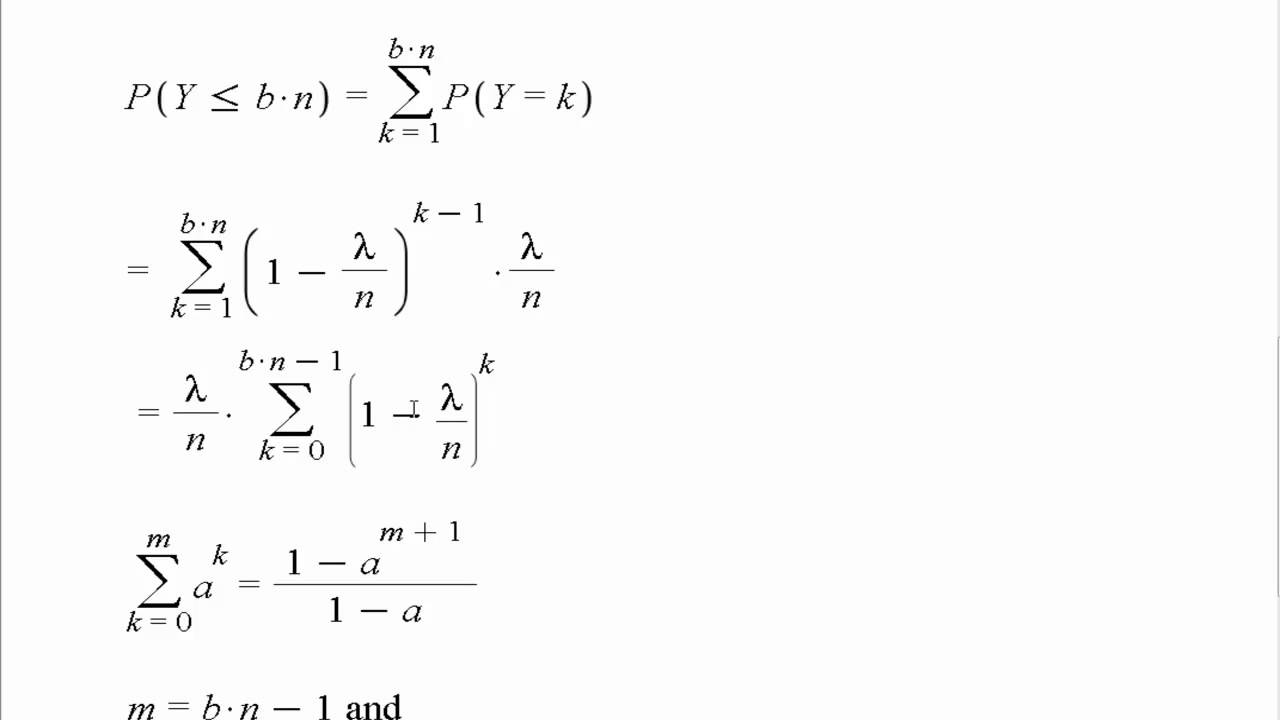 Derivation of the Pdf for an Exponential Distribution