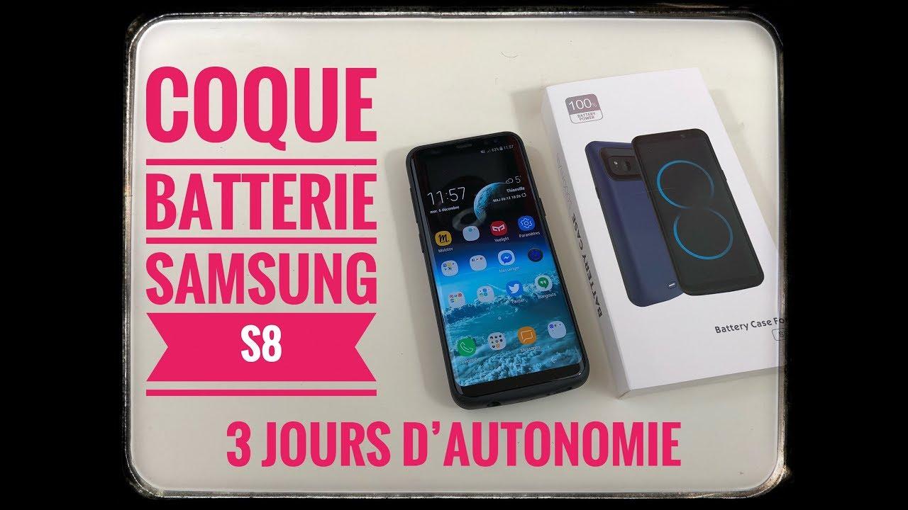 Coque Batterie Samsung S8 3 Jours D'Autonomie - YouTube
