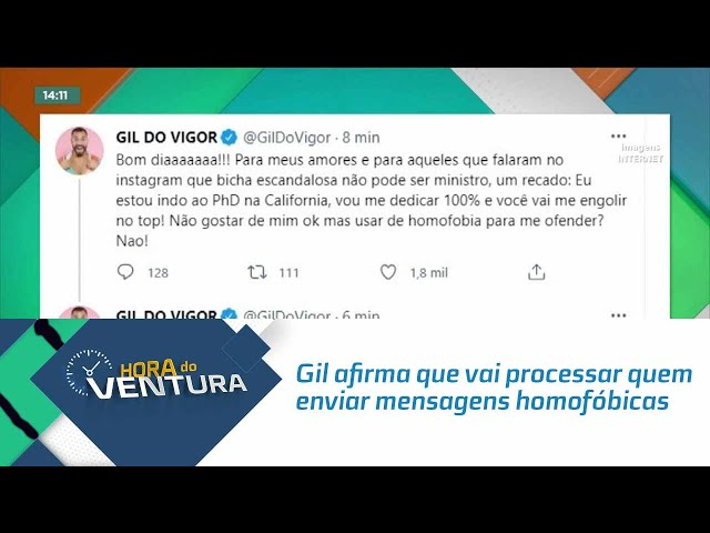 Gil do Vigor afirma que vai processar quem enviar mensagens homofóbicas para ele
