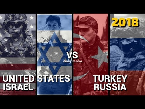 USA & Israel vs Turkey & Russia - Military Power Comparison 2018