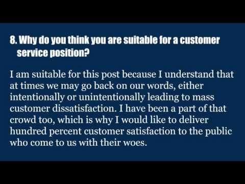 Top 15 customer service interview questions and answers - YouTube - customer service interview questions