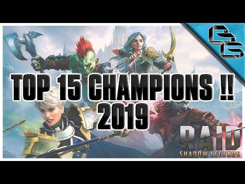 RAID: Shadow Legends   TOP 5 RARE, EPIC & LEGENDARY CHAMPIONS   End Game Basics
