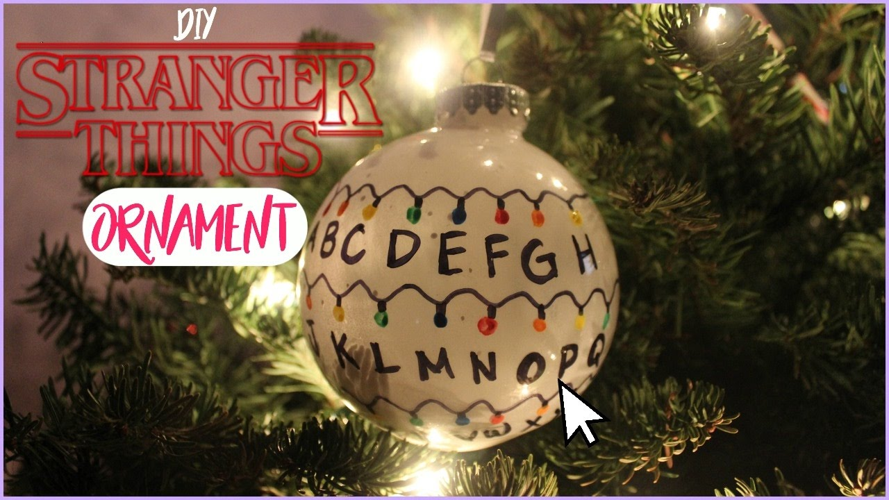 diy stranger things ornament i typical grecia - Stranger Things Christmas Decorations