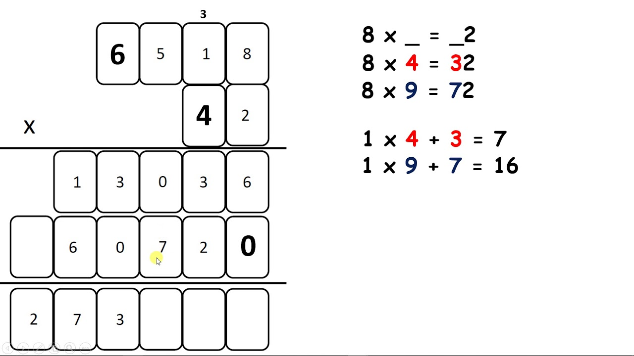 Solve multiplication problems with missing digits