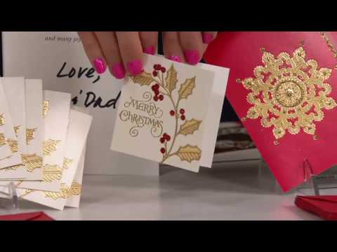 Hallmark 40-Piece Deluxe Holiday Boxed Greeting Card Set on QVC