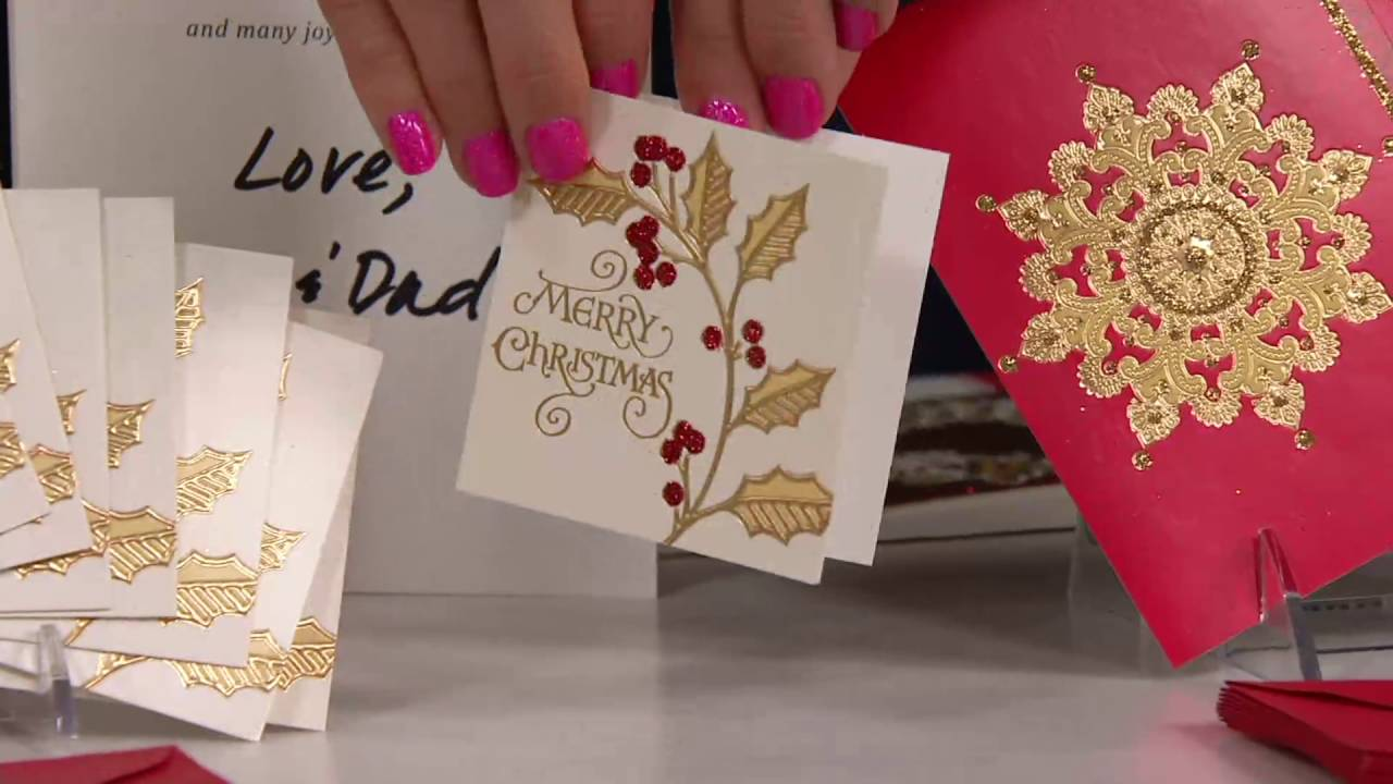 Hallmark 40 piece deluxe holiday boxed greeting card set on qvc hallmark 40 piece deluxe holiday boxed greeting card set on qvc m4hsunfo