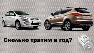 Стоимость эксплуатации автомобиля на примере Hyundai Solaris Santa Fe смотреть