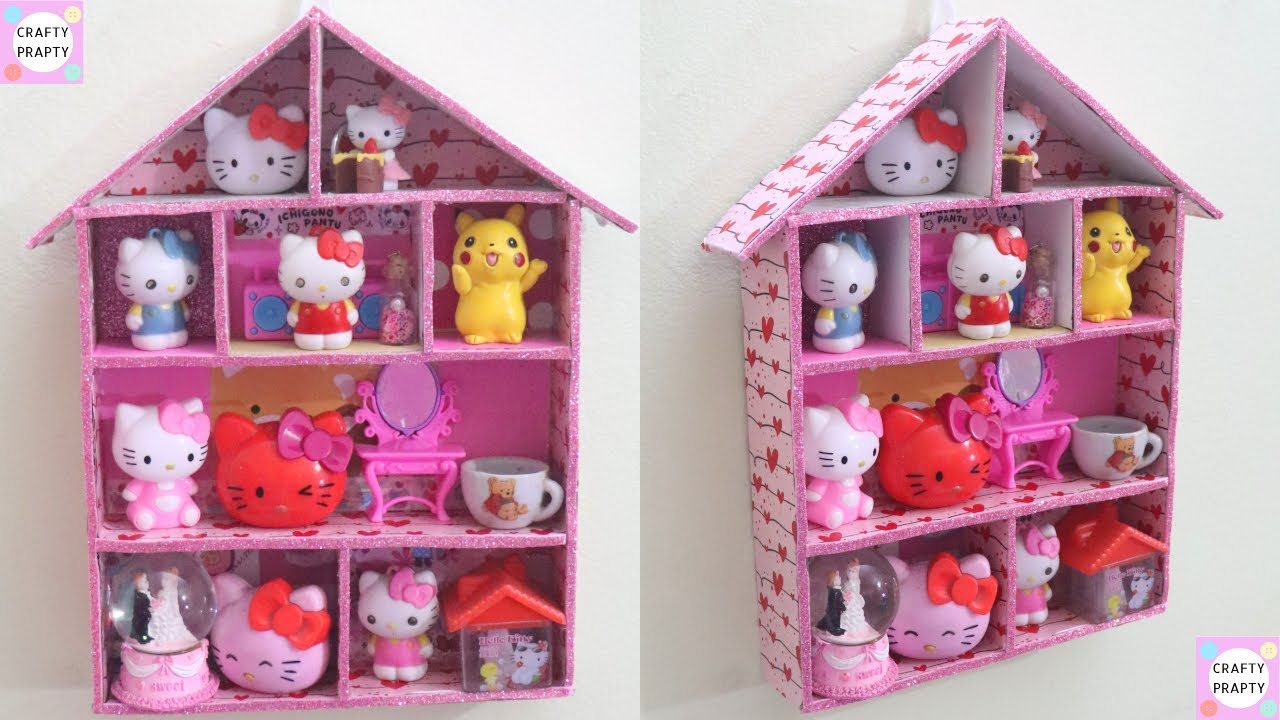 Diy Cardboard Organizer Diy Cardboard Shelf House Shaped Cardboard Organizer Best Out Of Waste