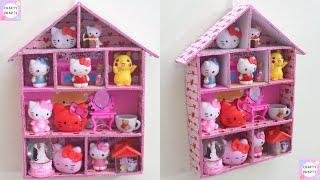 DIY Cardboard Organizer / DIY Cardboard Shelf / House Shaped Cardboard Organizer/ Best Out Of Waste