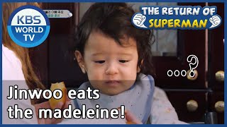 Jinwoo eats the madeleine! [The Return of Superman/ ENG / 2020.11.02]