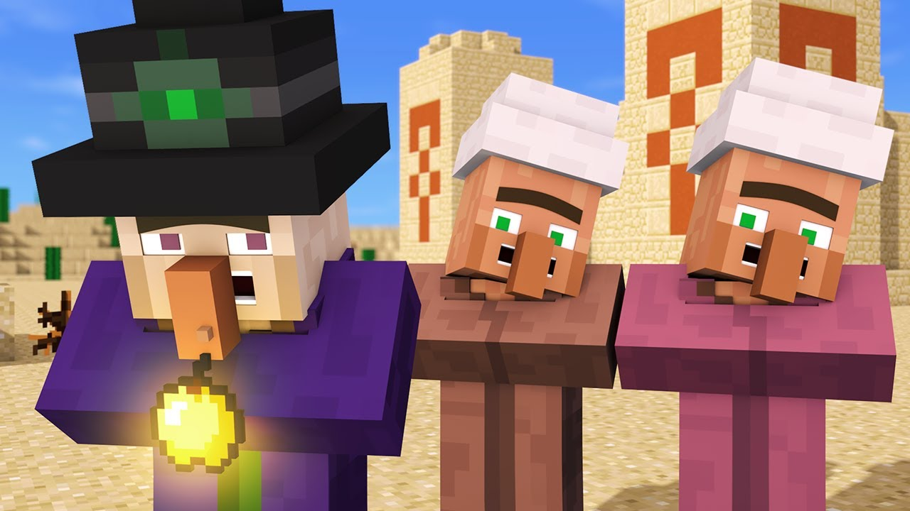 Villager & Witch Life 4 - Alien Being Minecraft Animation ...