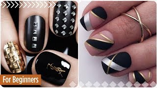 Easy nail art for short nails №9 💖 Manicure for beginners