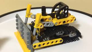 Lego Technic Mini Bulldozer/Excavator 2-in-1 Review! Set 8259