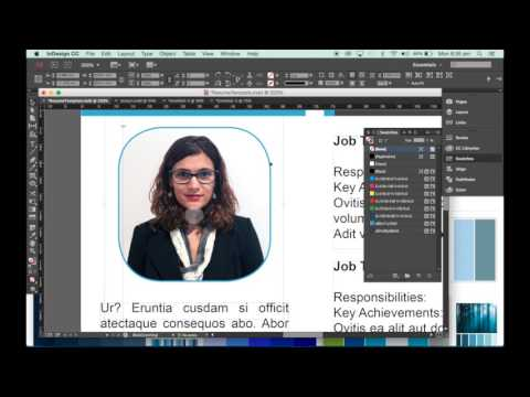 How to make a resume template in InDesign - YouTube