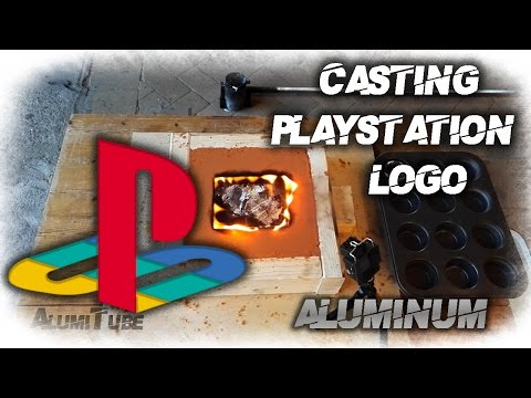 "Casting ""Making"" Playstation Logo"